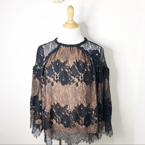 NEW Fab Rik Black Lace Blouse